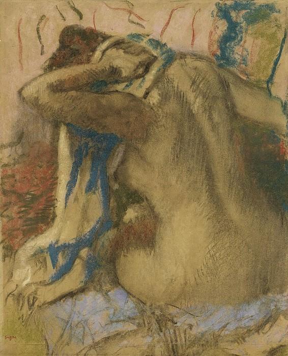 Edgar Degas - Woman Drying Her Hair, 1885. Sotheby's