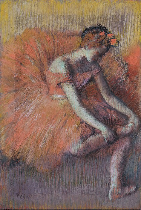 Edgar Degas - The Dancer Taking off the Sandale, 1896. Sotheby's