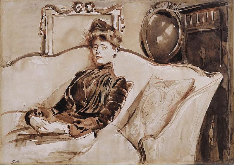 Эллё, Поль Сезар - Madame Helleu, 1892. Картины с аукционов Sotheby's