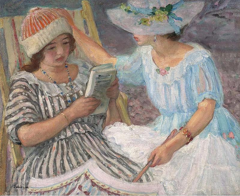 Henri Lebasque - Marthe and Nono, 1917. Sotheby's