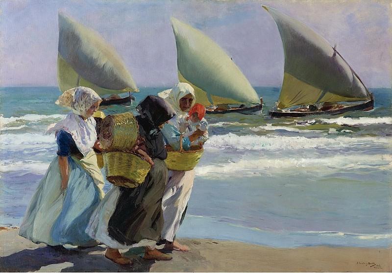 Joaquin Sorolla y Bastida - Three Sails, 1903. Sotheby's