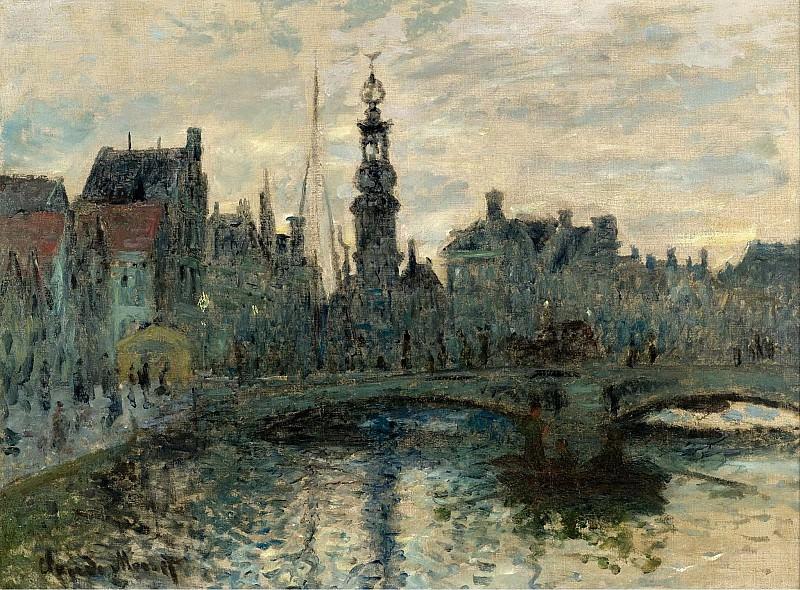 Claude Monet - The Bridge in Amsterdam, 1874. Sotheby's