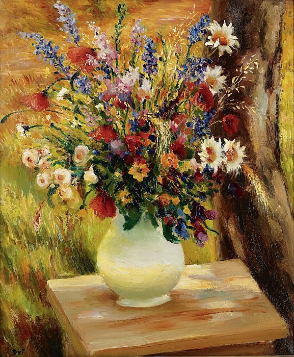 Marcel Dyf - The Vase with Fields Flowers, 1950. Sotheby's