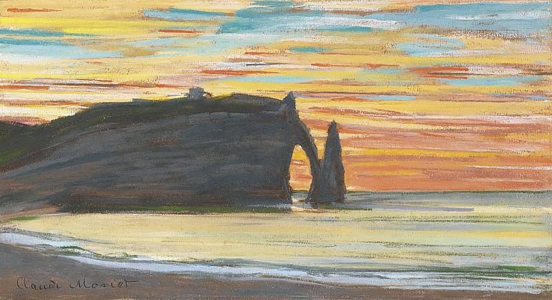 Claude Monet - Etretat, Cliff of Aval, 1885. Sotheby's