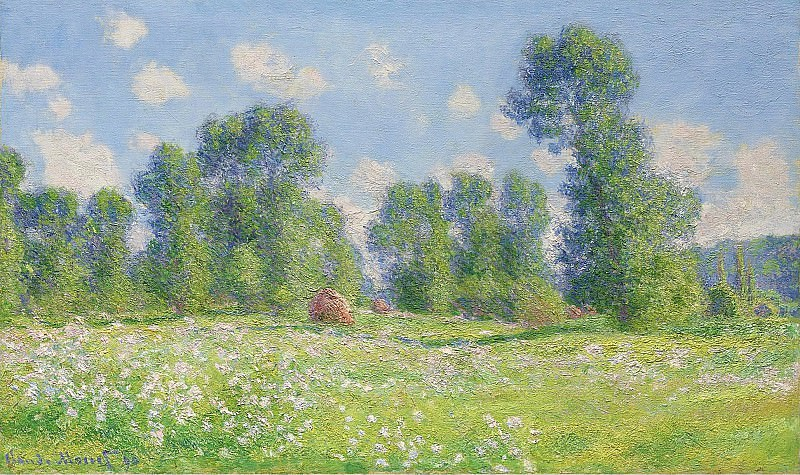 Claude Monet - Spring Effect at Giverny, 1890. Картины с аукционов Sotheby's