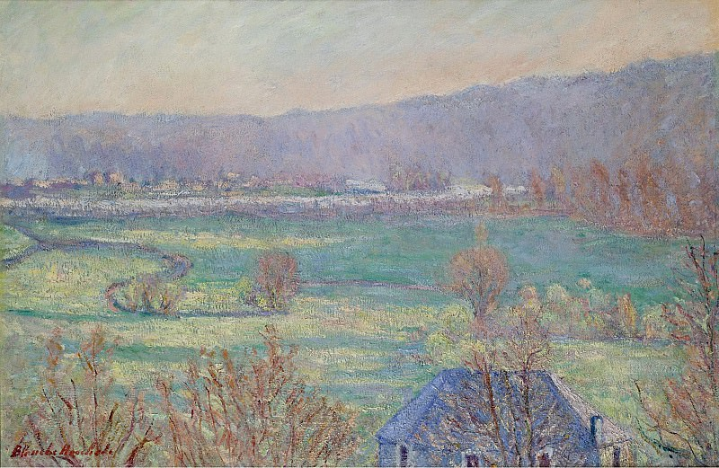 Blanche Hoschede-Monet - Blue House in the Outskirts of Giverny. Sotheby's