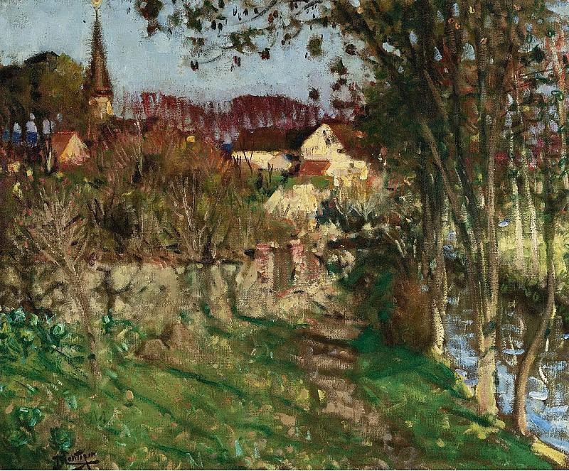 Pierre-Eugene Montezin - The Evening at Saint-Germain-sur-Avre. Sotheby's