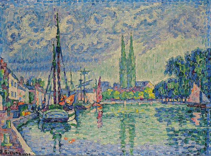 Paul Signac - LOdet a Quimper, 1929. Sotheby's