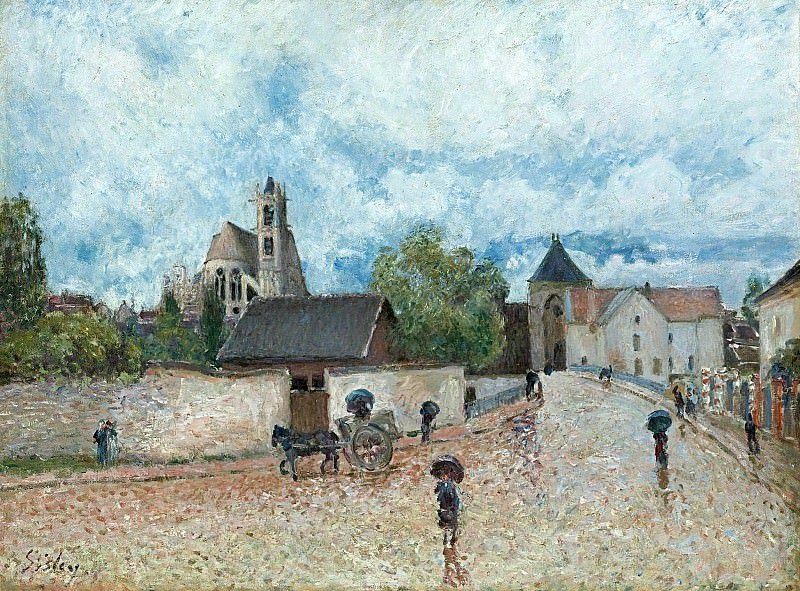 Alfred Sisley - Moret-sur-Loing, the Rain, 1887-88. Sotheby's