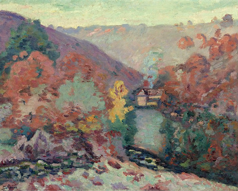 Armand Guillaumin - Landscape of the Creuse, the Passion, 1910. Sotheby's