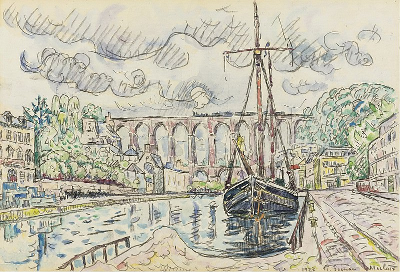 Paul Signac - Morlaix, 1927. Sotheby's