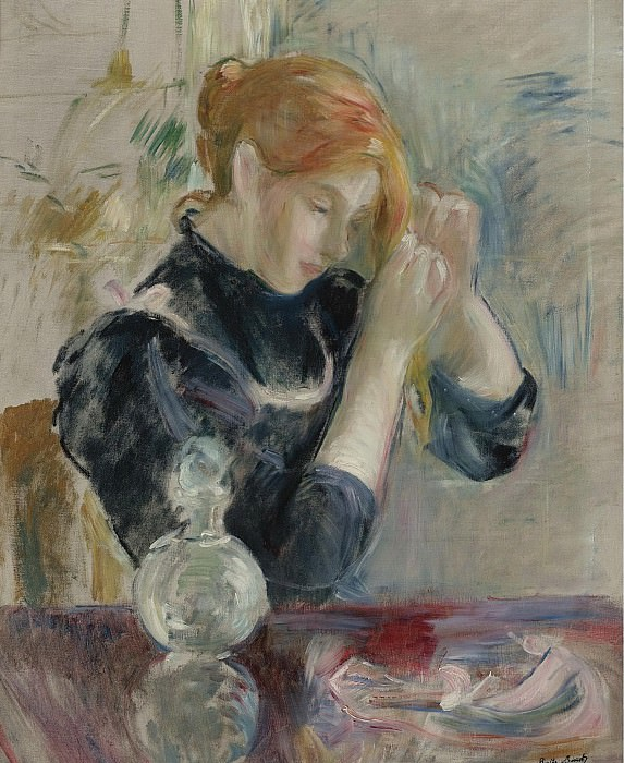 Berthe Morisot - By the Toilette. Sotheby's