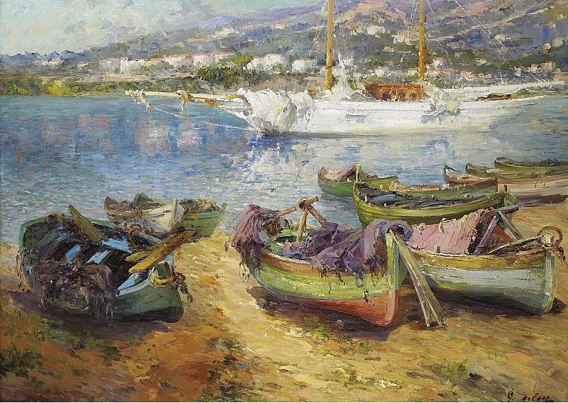 Gustave Deloye - Mediterranian Port. Sotheby's