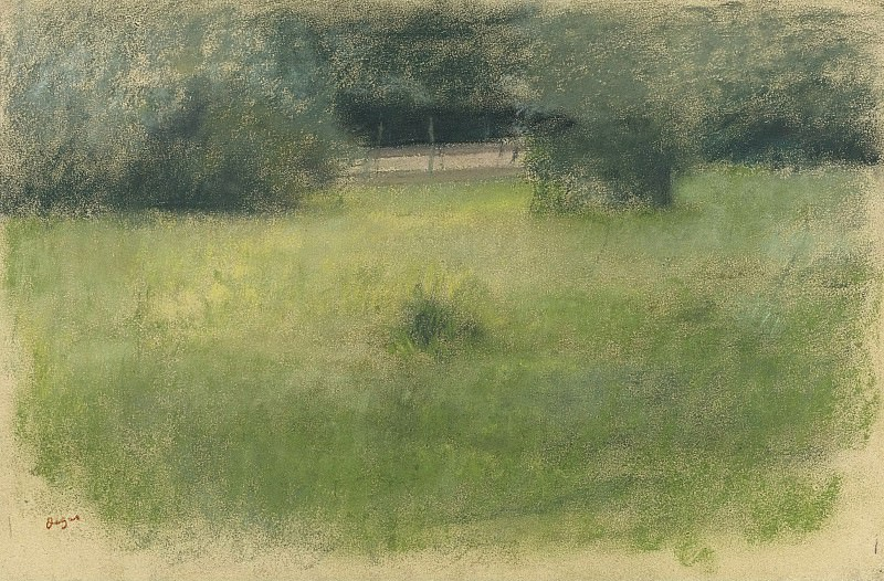 Edgar Degas - The Lawn and the Undergrowth, 1890-93. Sotheby's