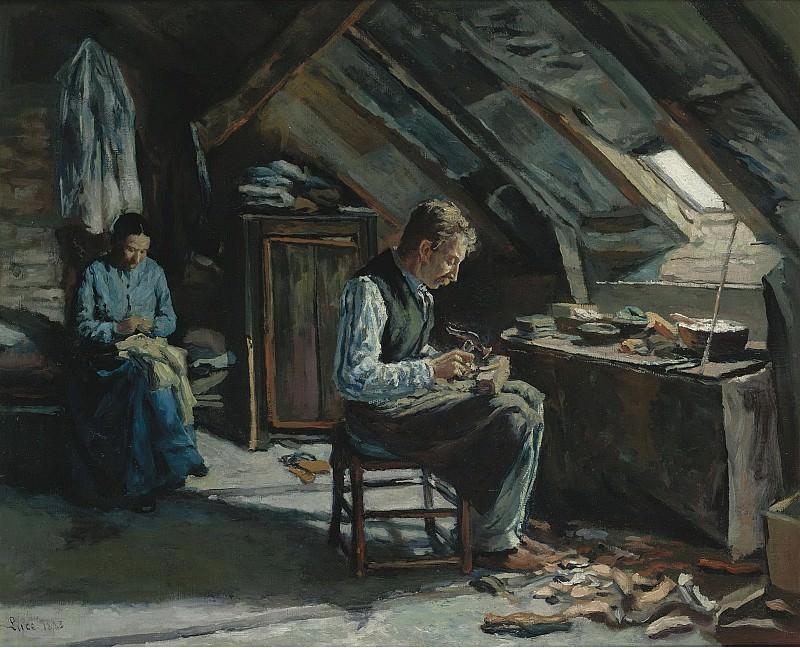 Люс, Максимильен - Boot-Maker on Mansarde, 1883. Картины с аукционов Sotheby's