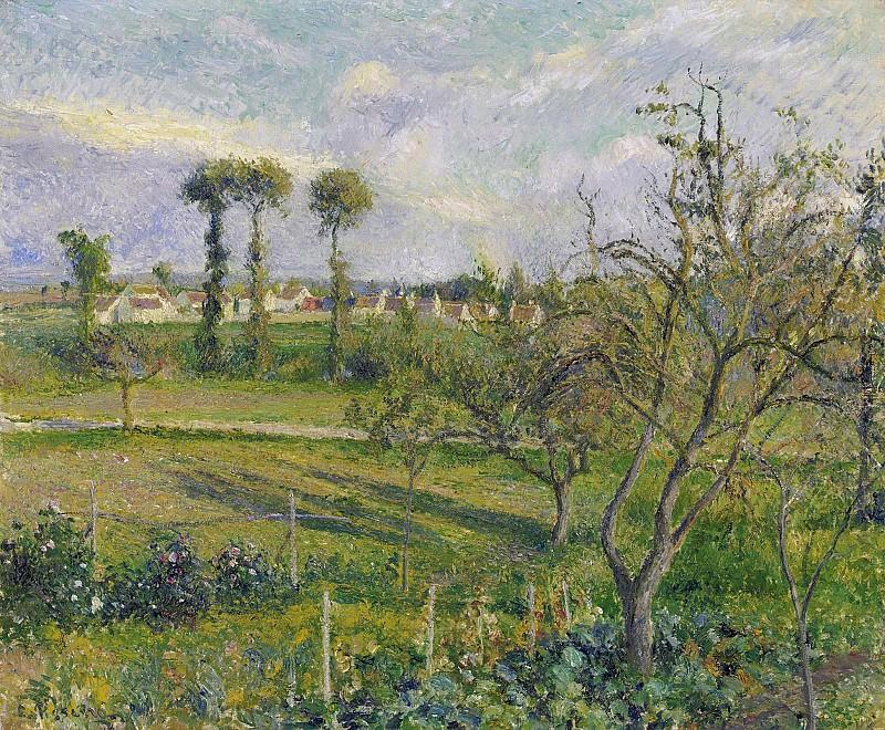 Camille Pissarro - Sunset at Valhermeil, Auvers-sur-Oise, 1880. Sotheby's