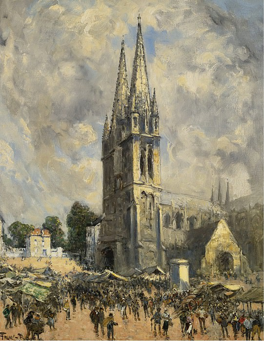 Frank Myers Boggs - The Church in Normandie. Sotheby's