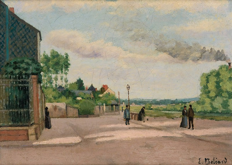 Edmond Joseph Beliard - The Banks of the Oise. Sotheby's
