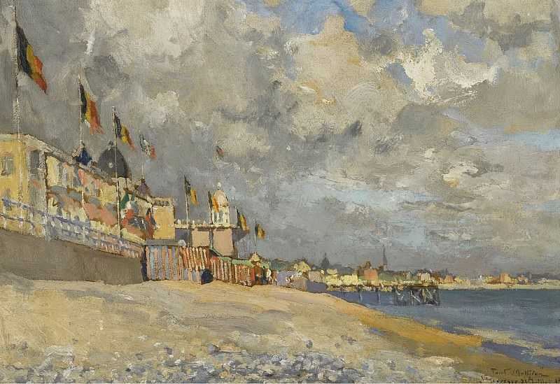 Paul Manthieu - The Beach at Saint-Adresse, 1915. Sotheby's