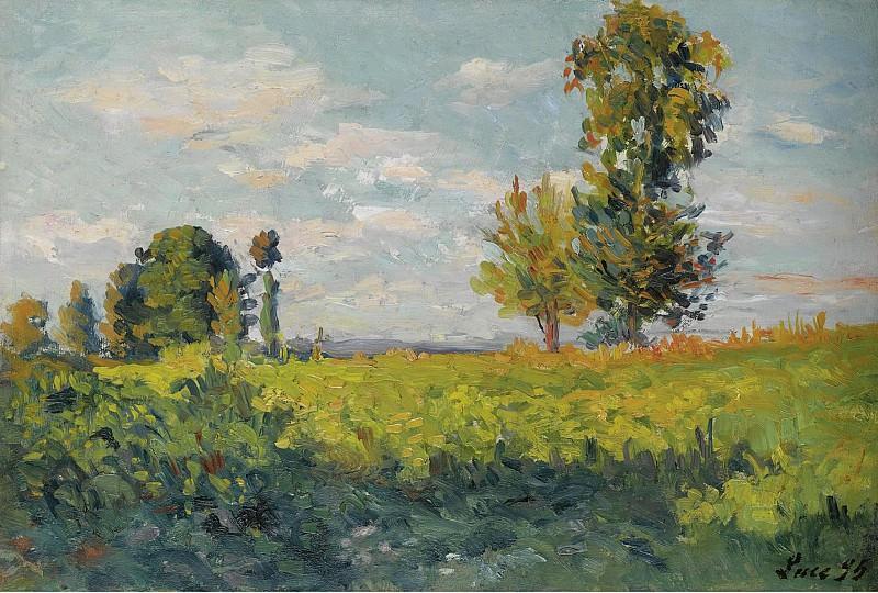 Maximilien Luce - Fields, 1905. Sotheby's