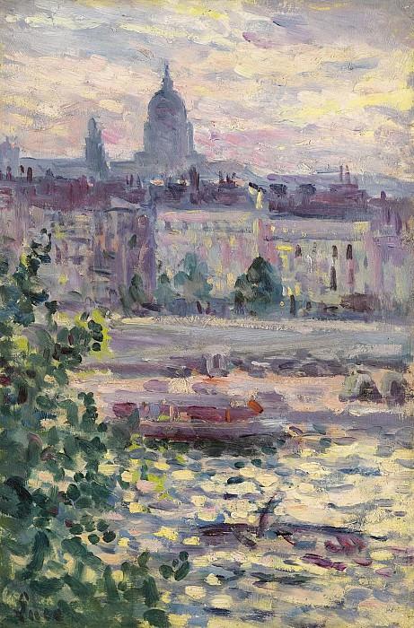Люс, Максимильен - Paris, Boards of the Seine, the House of Invalids, 1910. Картины с аукционов Sotheby's