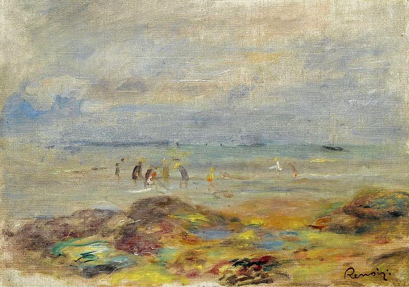 Pierre Auguste Renoir - Catchers of Shrimps near Rocks, 1892. Sotheby's