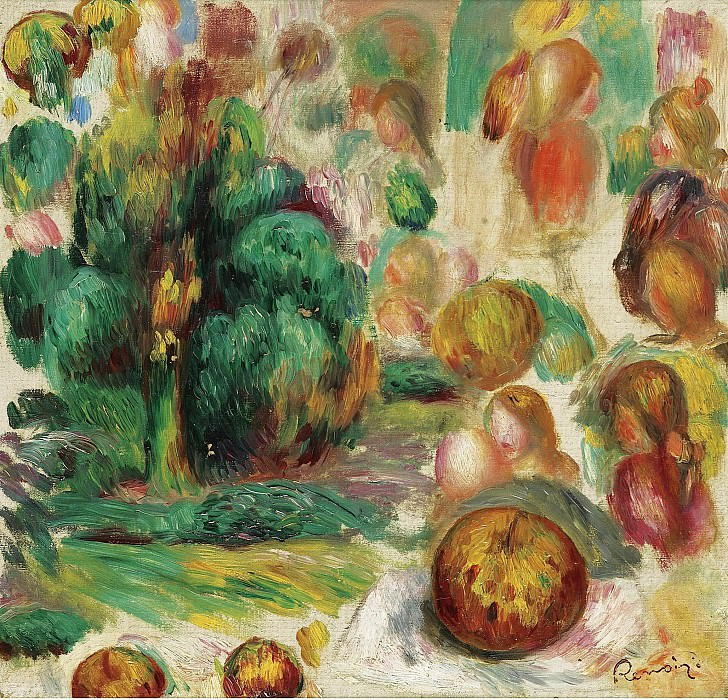 Pierre Auguste Renoir - Heads, Trees and Fruits, 1892. Sotheby's