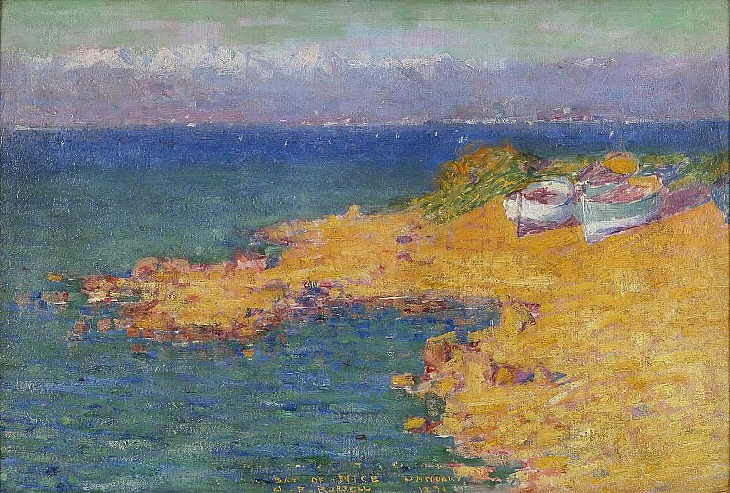 John Peter Russell - The bay of Nice, 1891. Sotheby's