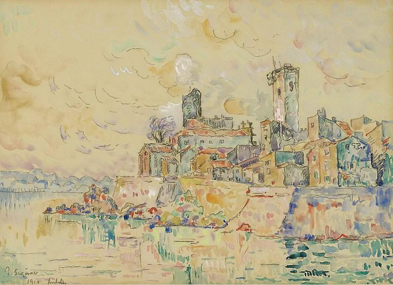 Paul Signac - Antibes, 1910. Sotheby's