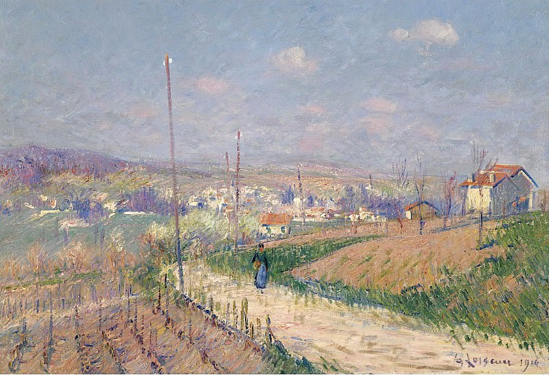 Gustave Loiseau - The Spring at Ile-de-France, 1916. Sotheby's