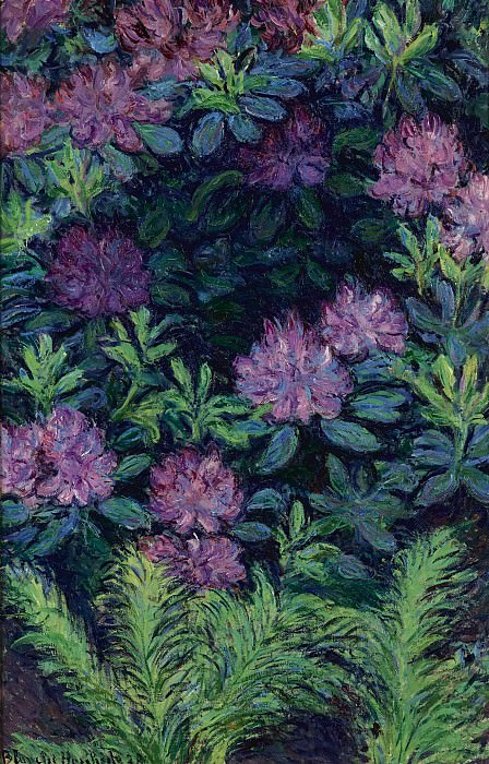 Blanche Hoschede-Monet - Rhododendrons, 1928. Sotheby's