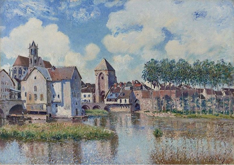 Alfred Sisley - Moret-sur-Loing, 1891. Sotheby's
