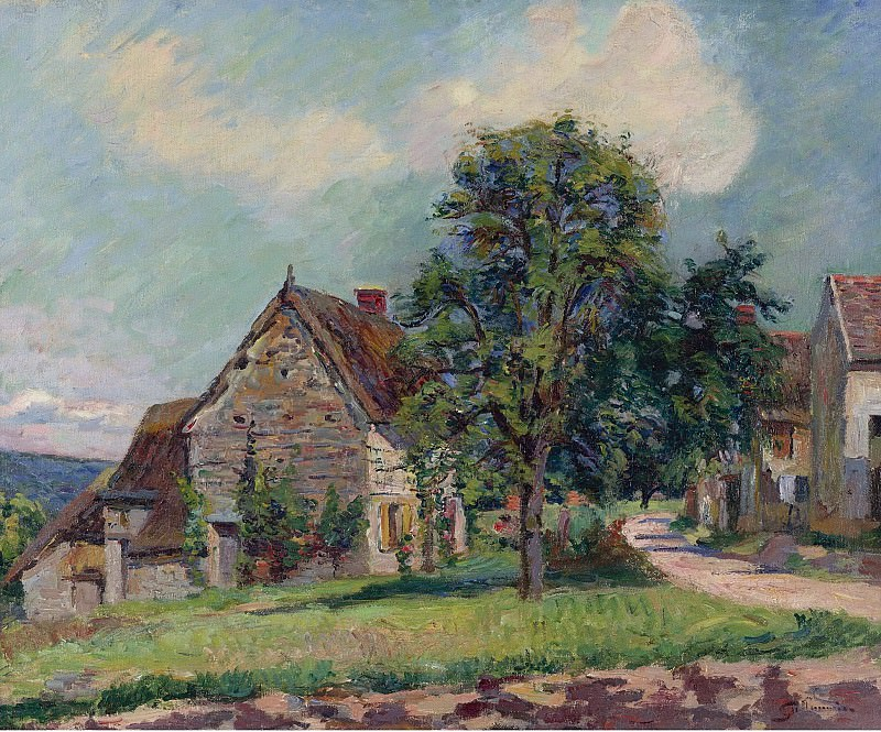 Armand Guillaumin - The Village of Damiette, 1885. Sotheby's
