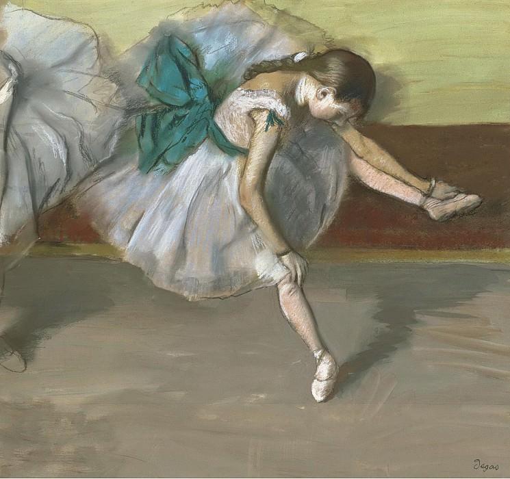 Edgar degas - Resting Dancer, 1879. Sotheby's