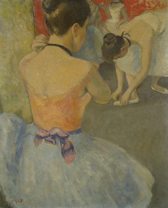 Francois Gall - Eugenie, the ballerine from Back before the Dance, 1965-70. Картины с аукционов Sotheby's