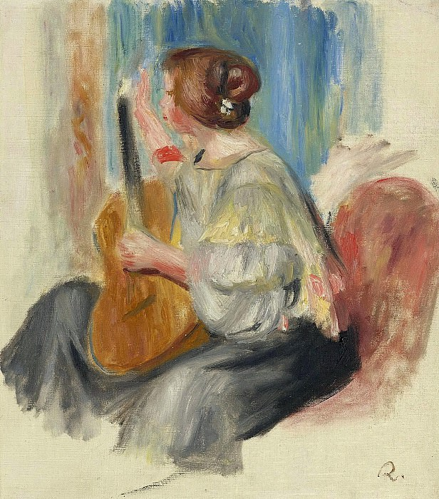 Pierre Auguste Renoir - Woman with Guitar, 1895-97. Sotheby's