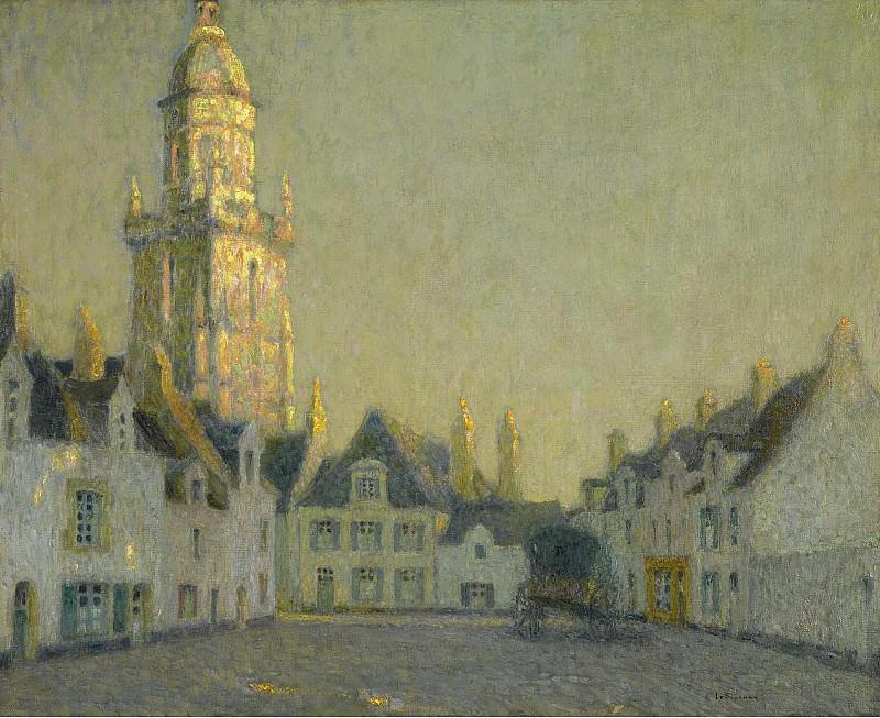 Henri Le Sidaner - La Place, Le Croisic, 1924. Sotheby's