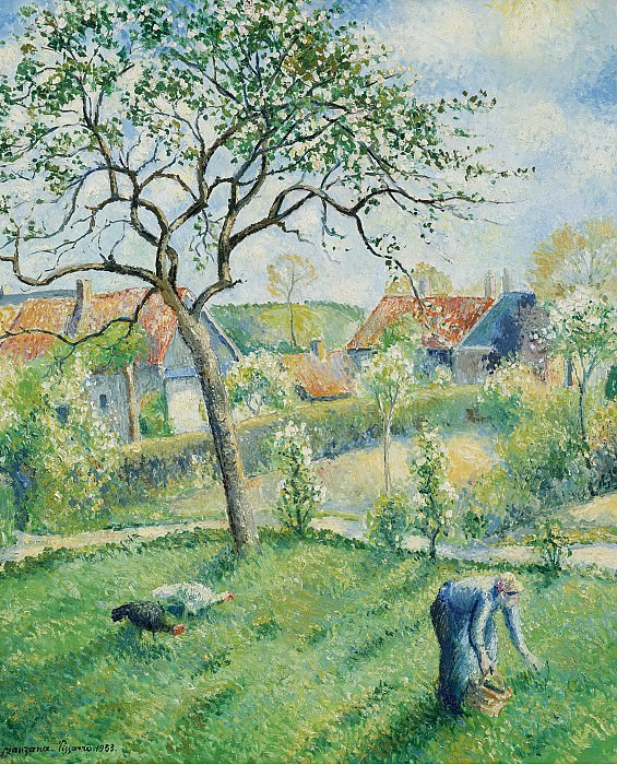 Georges Manzana-Pissarro - Apple Trees in Bloom, 1953. Картины с аукционов Sotheby's
