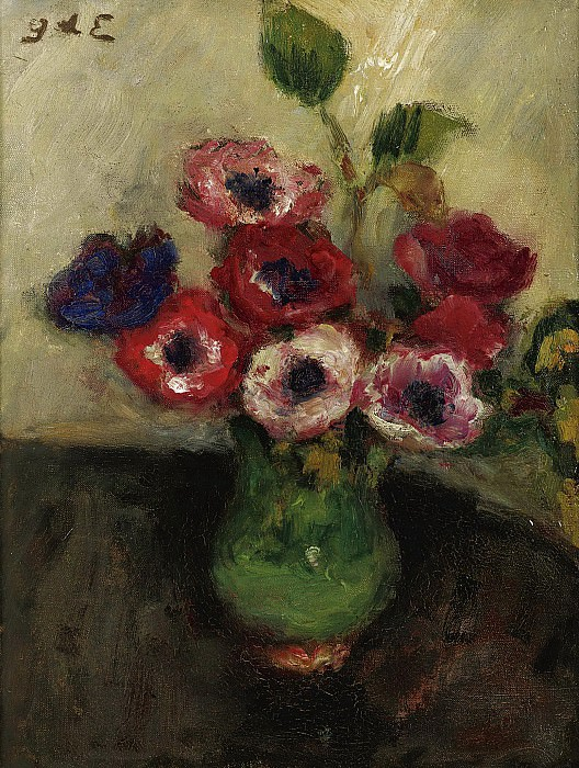 Georges dEspagnat - Vase with Anemones. Sotheby's