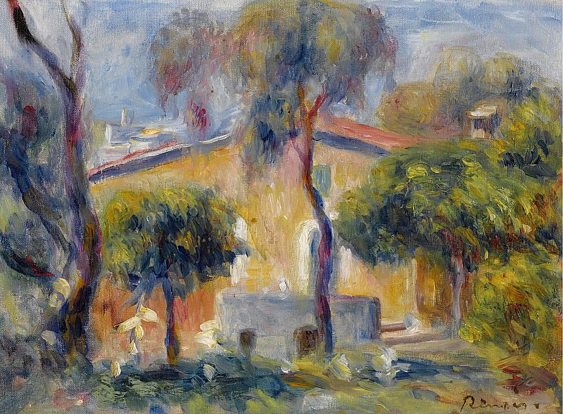 Pierre Auguste Renoir - Houses at Cagnes, 1908. Sotheby's