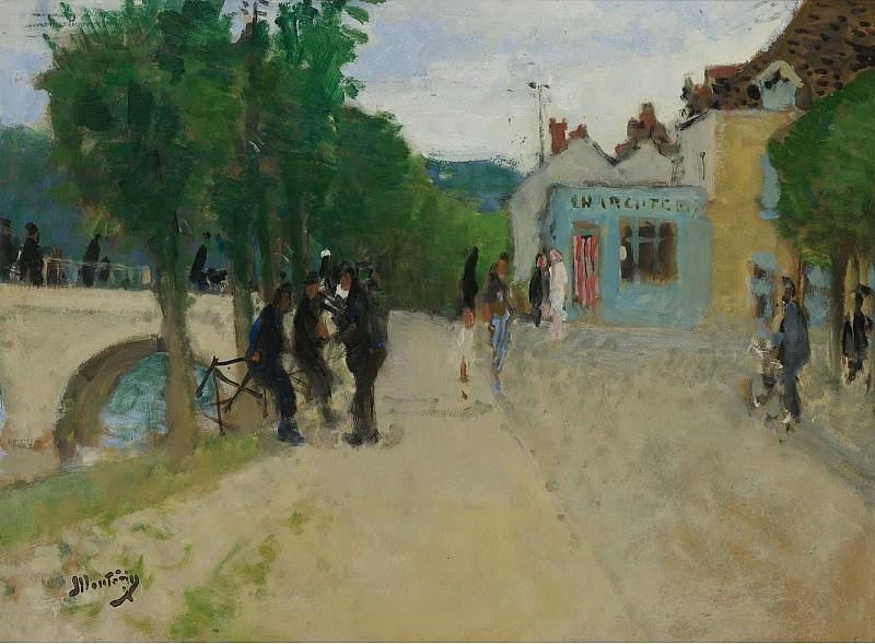 Pierre-Eugene Montezin - Village Street. Sotheby's