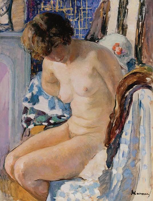 Henri Lebasque - Sitting Nude. Sotheby's