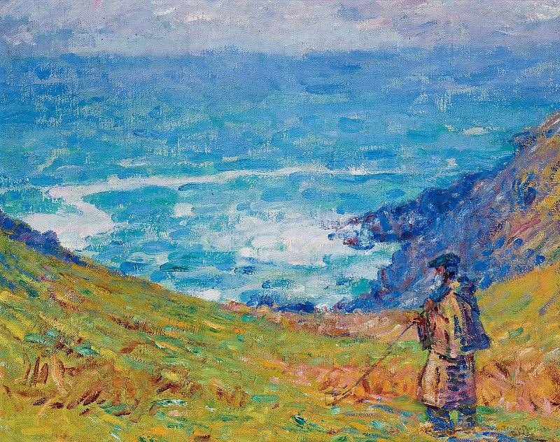 John Peter Russell - Cliffs at Falaise, 1900-04. Картины с аукционов Sotheby's