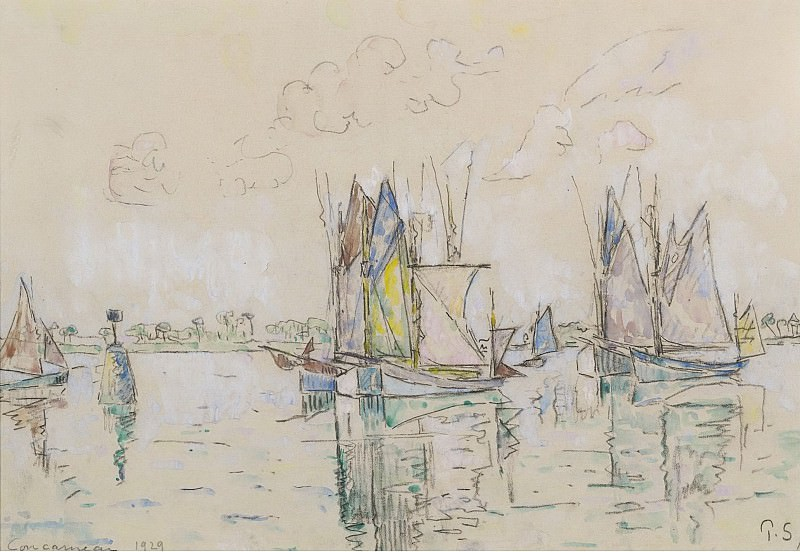 Paul Signac - The Port of Concarneau, 1929. Sotheby's