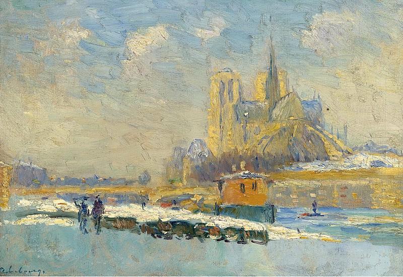 Albert Lebourg - Notre Dame de Paris and the Quay of Tournelle. Картины с аукционов Sotheby's