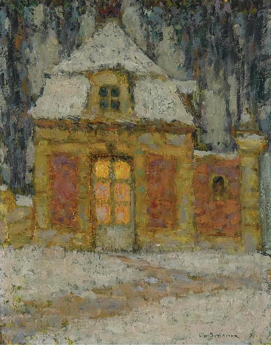 Henri Le Sidaner - Snow, Versailles, 1911. Картины с аукционов Sotheby's