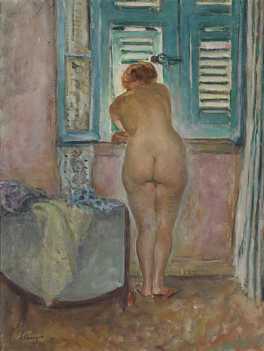 Henri Lebasque - Female Naude by the Window. Картины с аукционов Sotheby's