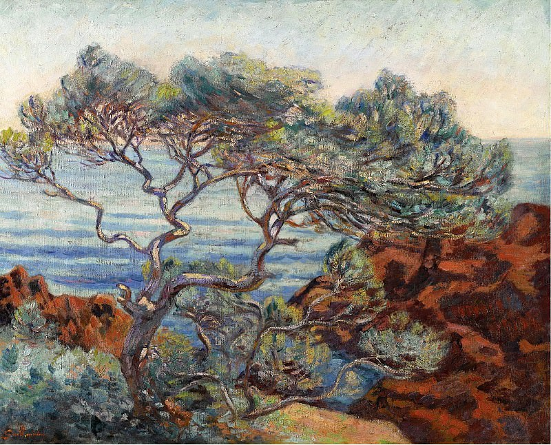 Armand Guillaumin - The Red Rocks at Agay, 1898. Sotheby's