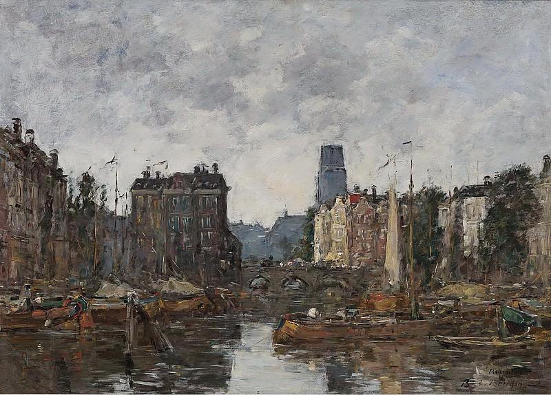 Eugene Boudin - Rotterdam, the Bridge of Bourse, 1873. Sotheby's