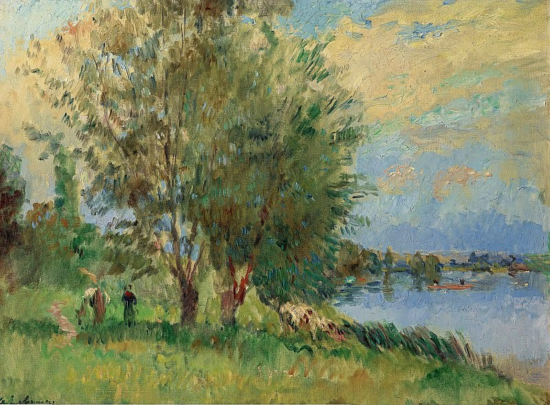 Albert lebourg - The Figures on the Riverbank. Sotheby's